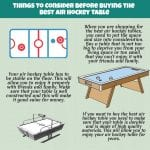 Air Hockey Table guide Infographic
