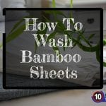 how to wash bamboo sheet
