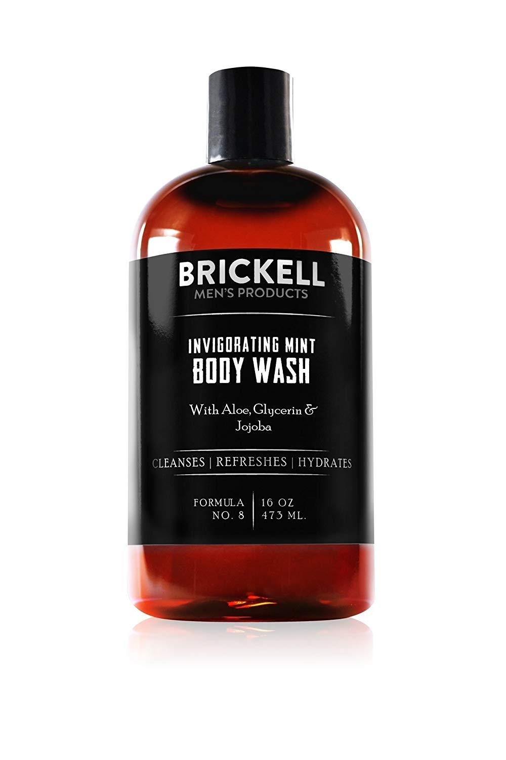 Brickell Men's Invigorating Mint Body Wash for Men