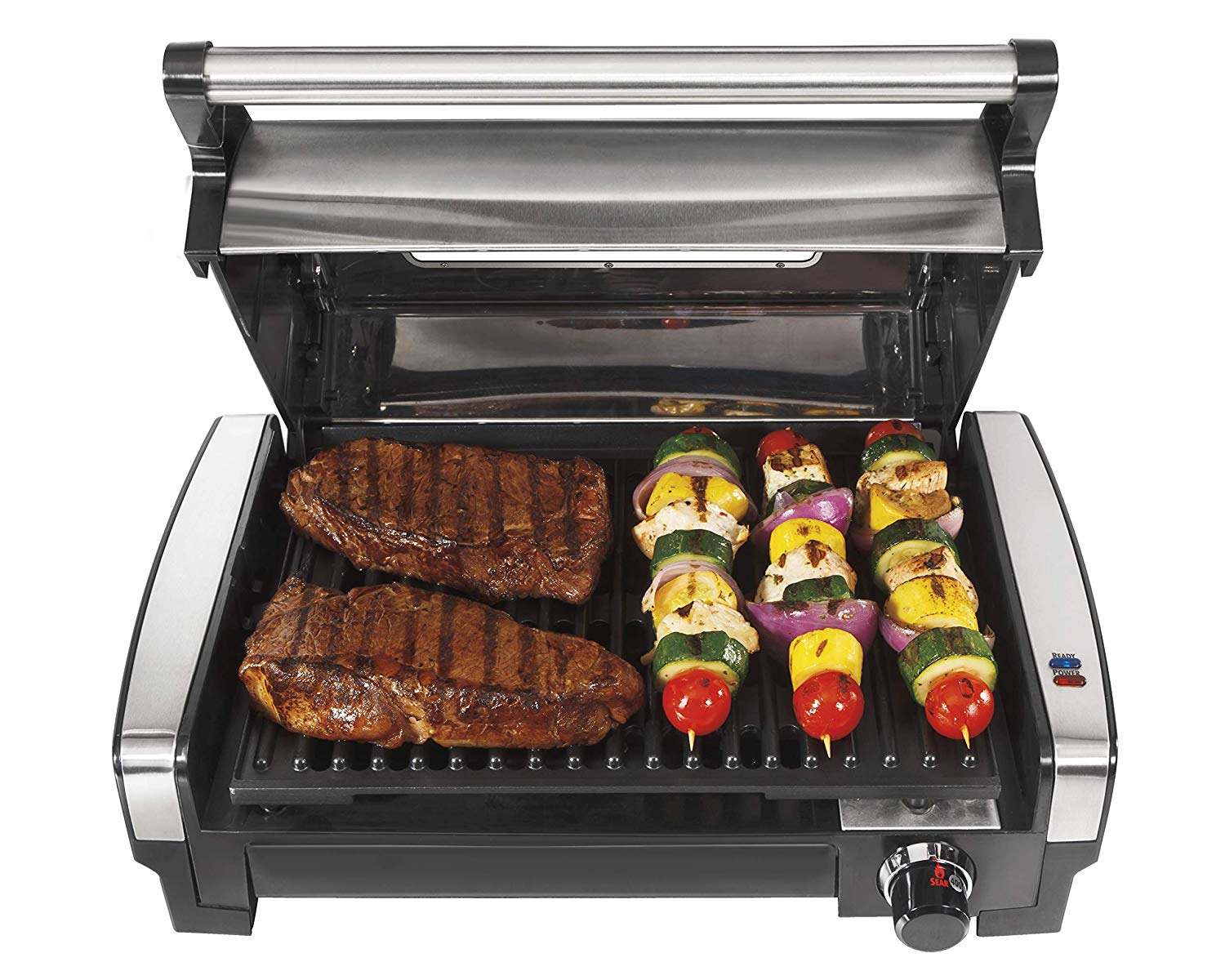 Hamilton Beach Electric Indoor Searing Grill with Viewing Window