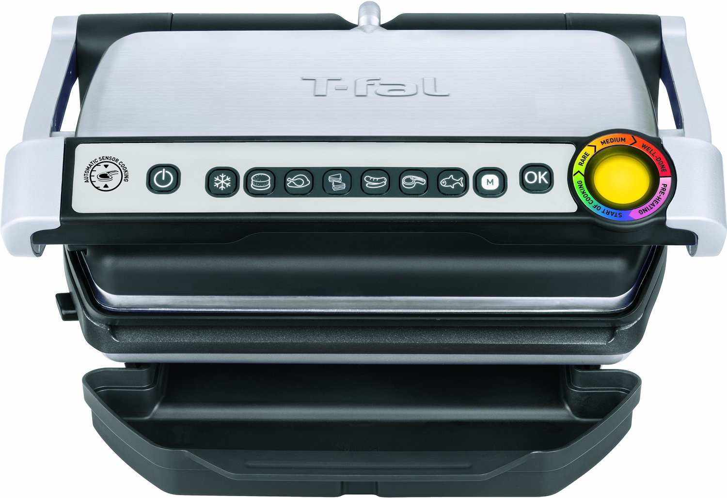 T-fal GC70 OptiGrill Electric Grill, Indoor Grill, Removable Nonstick Dishwasher Safe Plates