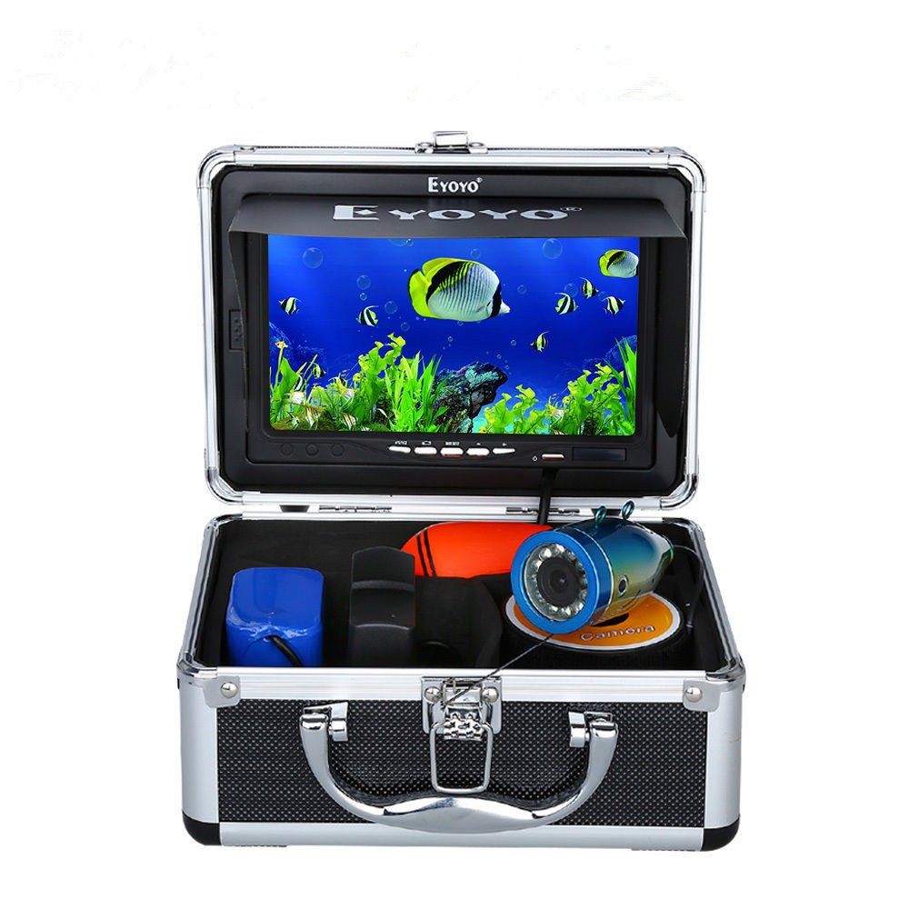 """7"""" Color LCD 600tvl Waterproof 15m Cable 4000mah Rechargeable Battery Fish Finder"""