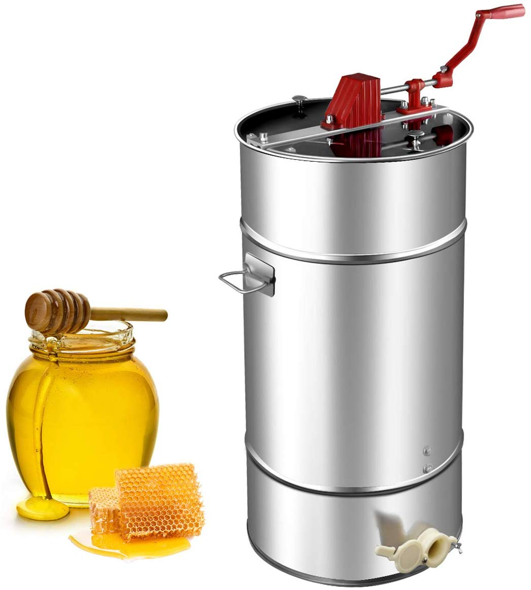 Goplus Manual 2 Frame Honey Extractor Stainless Steel Honey Separator Pro