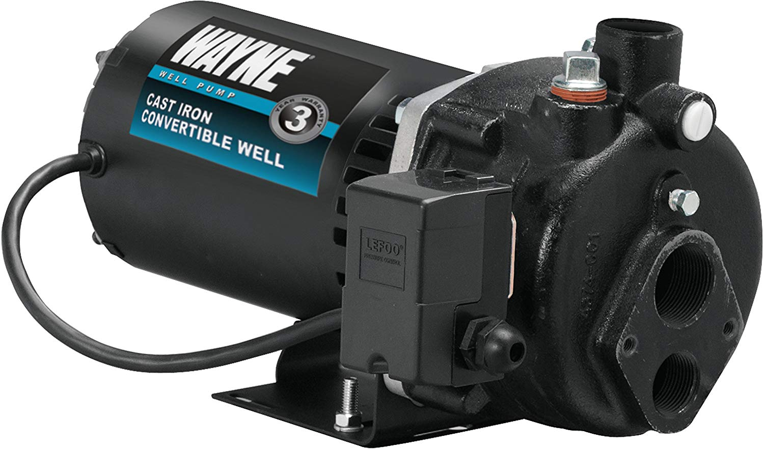 Wayne CWS75 Convertible Well Jet Pump, 3/4-Horsepower.