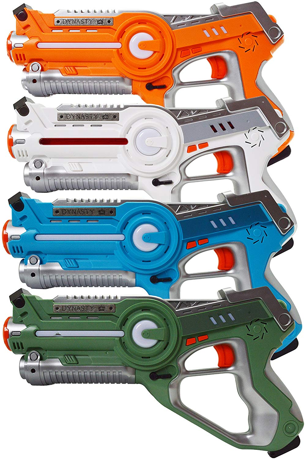 Laser Tag Set Toys and Carrying Case for Kids Multiplayer 4 Pack