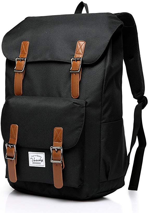 Backpack for Men Women, Vaschy Casual Water-resistant College School Backpack