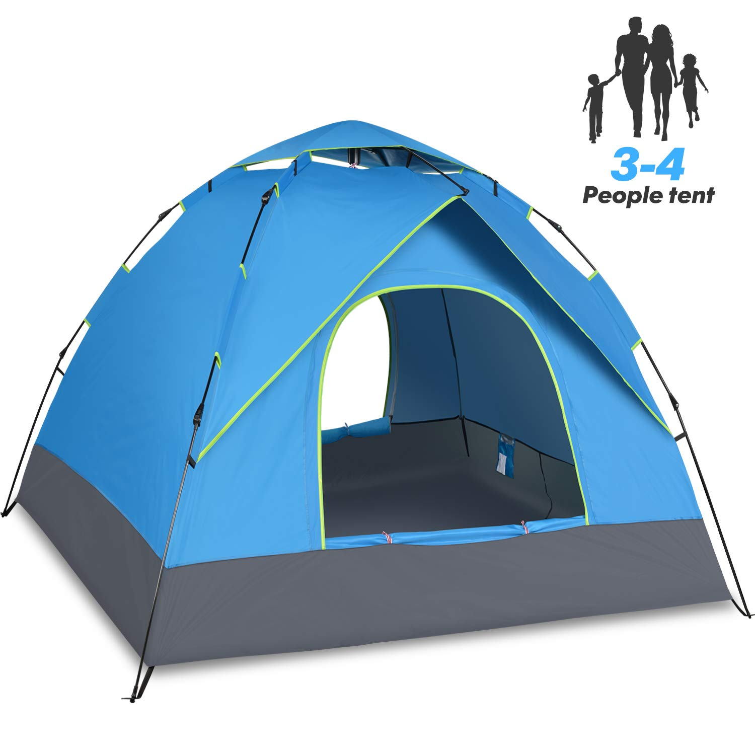 Amagoing 4 person tents for camping with instant setup double layer waterproof for four seasons: