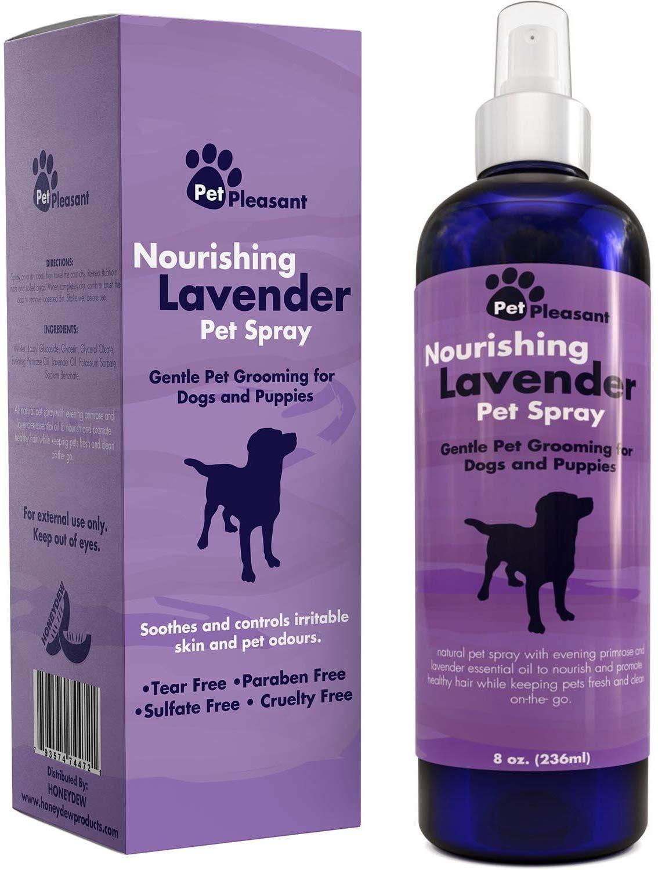 Natural Pet Spray – Aromatherapy Lavender Essential Oil & Primrose Fur Deodorizer