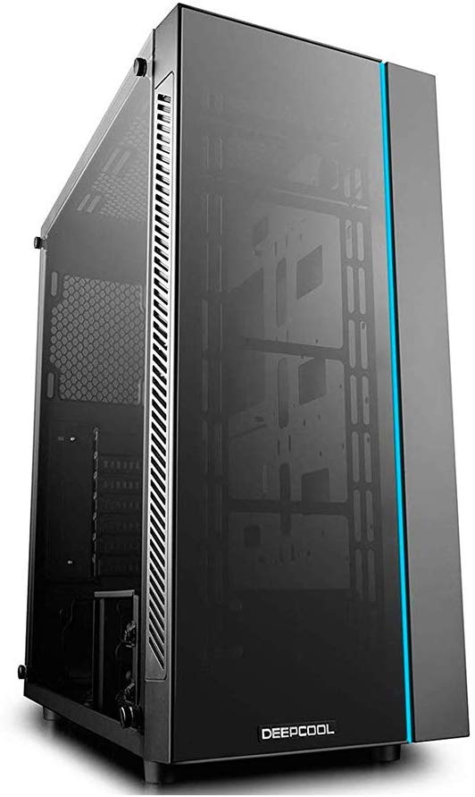 DeepCool MATRIXX 55 Case, E-ATX Supported, Motherboard or Button Control of Sync of 12V RGB Devices of 4mm Full-Sized Tempered Glass