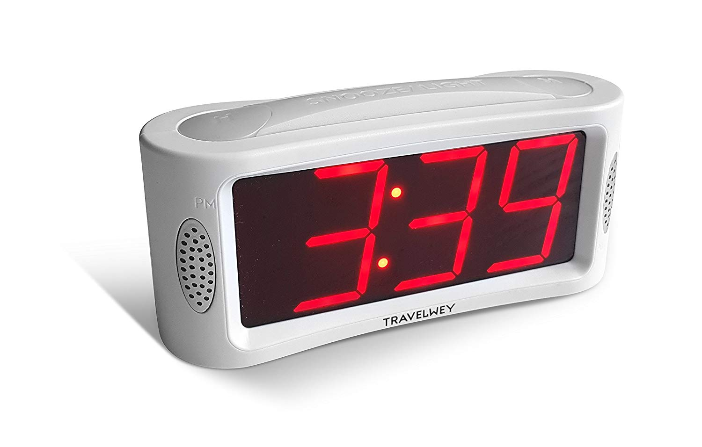 Travelwey Led Digital Alarm Clock- Outlet Powered