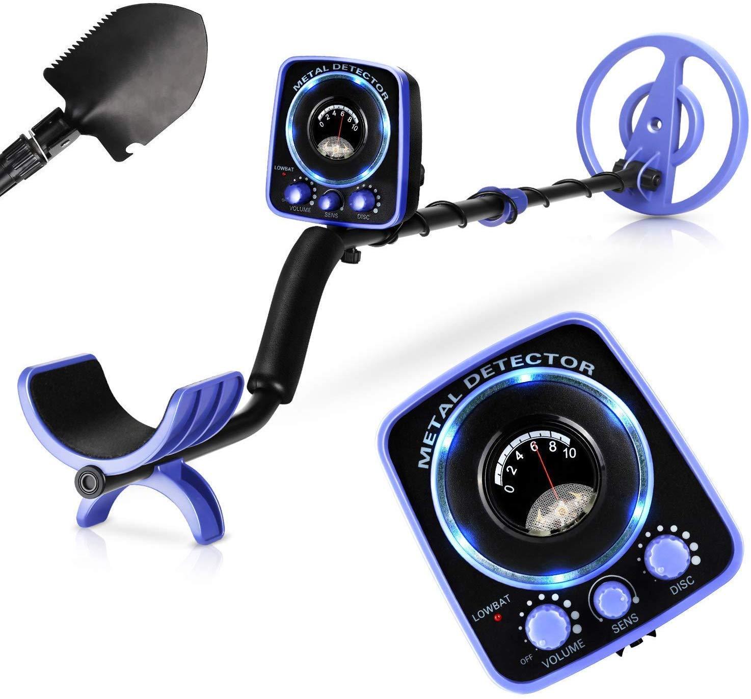"""INTEY Metal Detector Waterproof for Adults Kids Adjustable(35""""-45"""") """