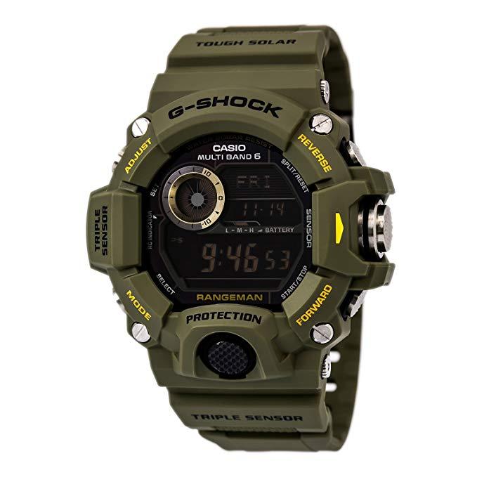 Casio Men's GG-1000-1A3CR Mudmater G-SHOCK Quartz Casual Watch, Green