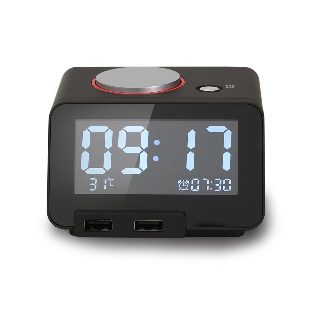 Homtime Multi-function Alarm Clock, Indoor Thermometer
