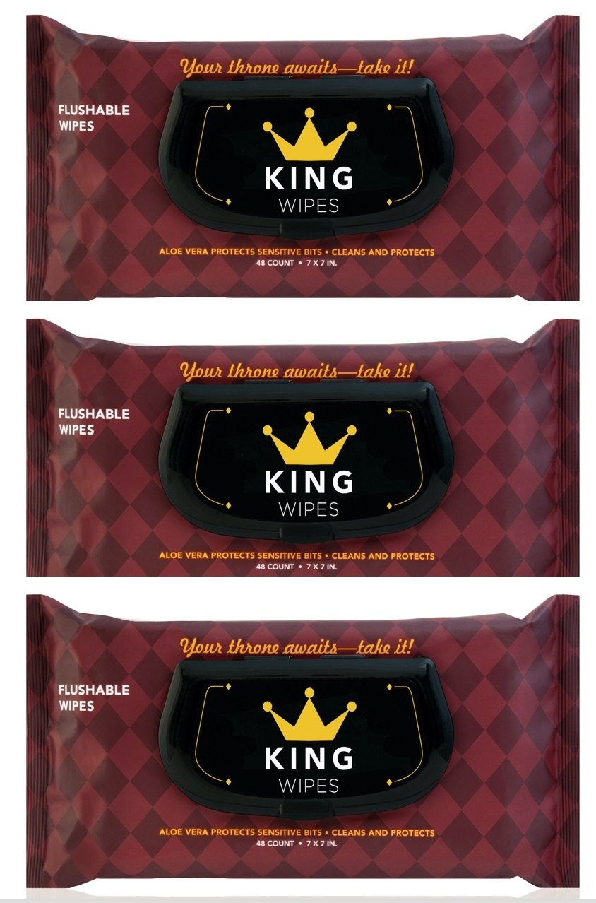 KING Flushable Wipes with Aloe Vera