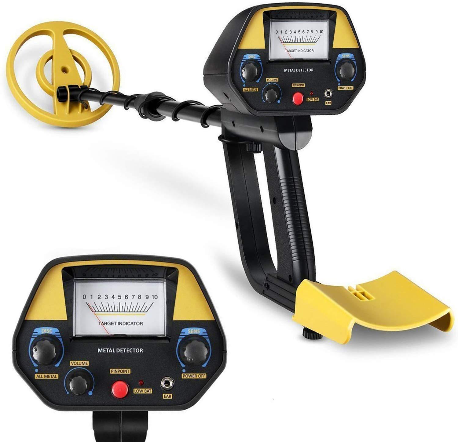 INTEY Metal Detector - Sensitivity & Volume Adjustable, Waterproof Coil (30.7-42.5 in),