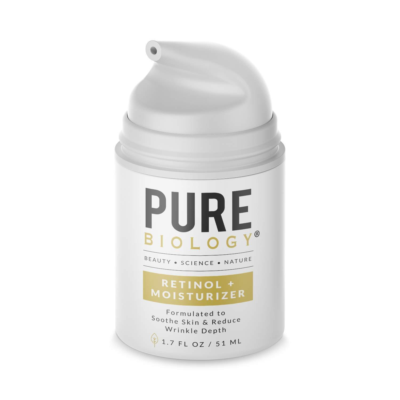 Pure Biology Premium Retinol Cream Face Moisturizer 