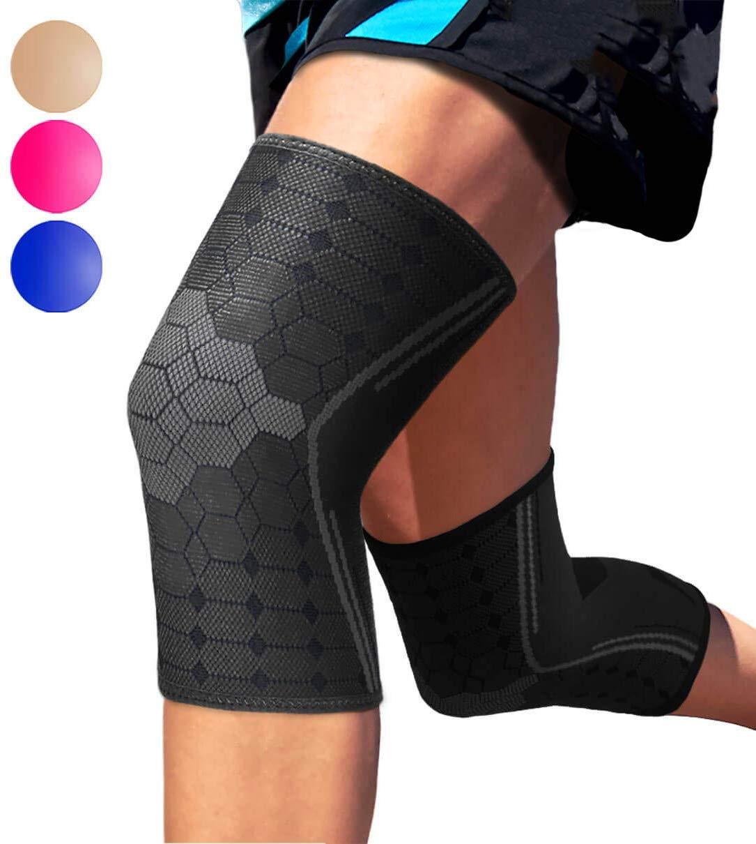 BERTER Knee Brace for Men Women - Compression Sleeve Non-Slip BERTER Knee Brace for Men Women - Compression Sleeve Non-Slip for Runningfor Running