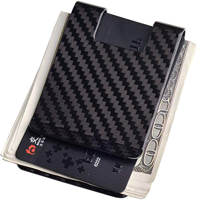 Carbon Fiber Money Clip Wallet-CL CARBON LIFE Business Card Holder RFID Protector Credit Card Holder Wallet Clips
