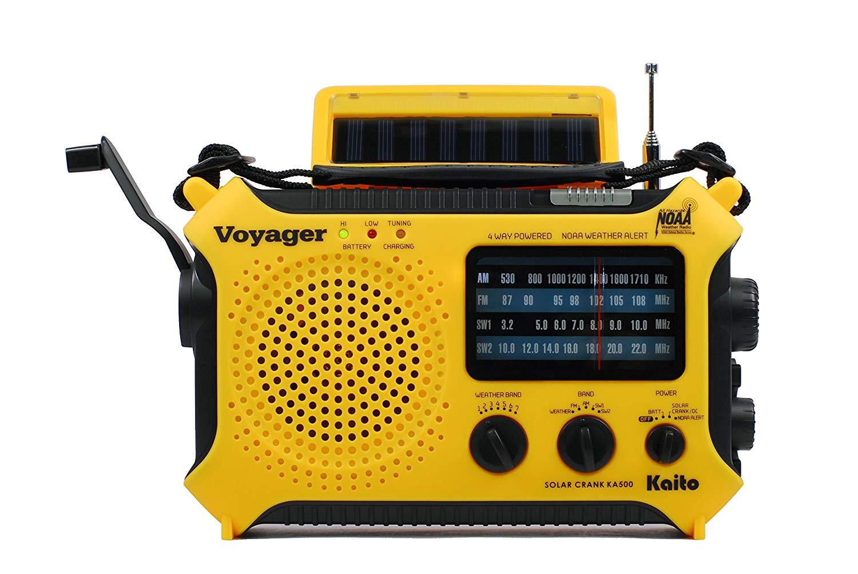 Kaito KA500 5-way Powered Solar Wind Up Emergency Radio