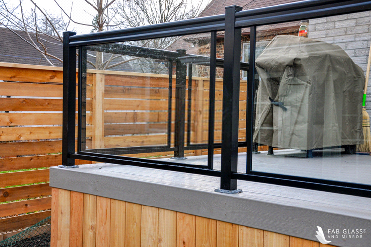 Framed glass railings