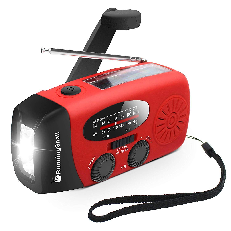 RunningSnail Emergency MD-088s Hand Crank Self Powered Radio