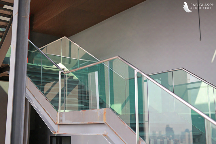All Glass Railing Stairs