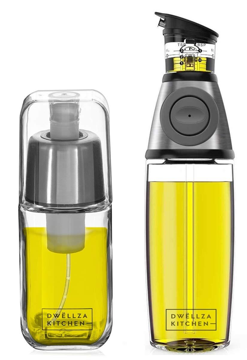 DWËLLZA KITCHEN Olive Oil Dispenser and Oil Sprayer for Cooking Set