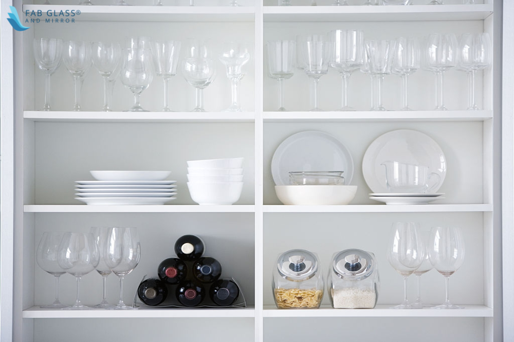 Styling Cabinet Glass with Stylish Plate Racks