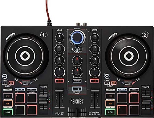 Hercules DJControl Inpulse 200   Portable USB DJ Controller with Beatmatch Guide, DJ Academy, and full DJ software DJUCED included