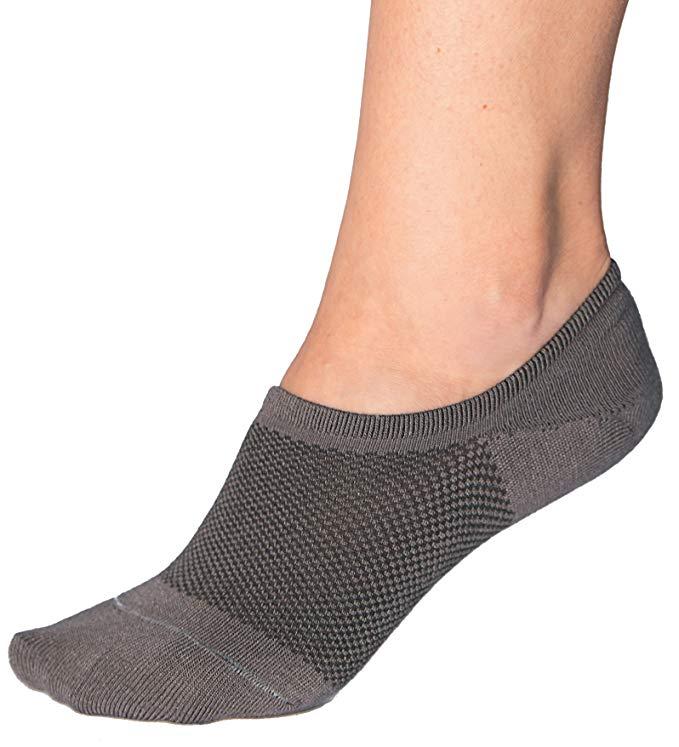Bam&bü Women's Premium Bamboo No Show Casual Socks