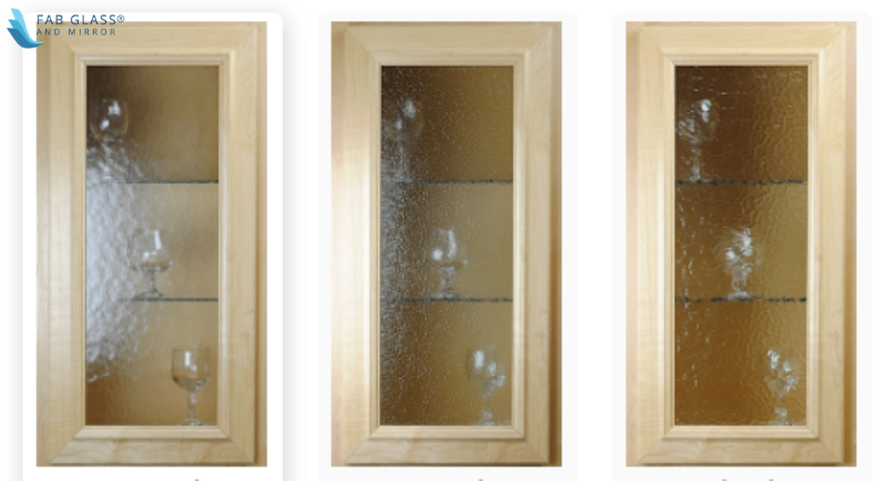 Textured Pattern Cabinet Glass